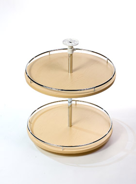 Armotec ensemble de 2 tablettes rondes en m lamine avec - Tablette prepercee en melamine ...